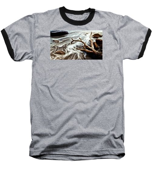 Baseball T-Shirt featuring the photograph Slow Motion Sea by Cameron Wood