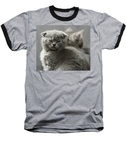 Baseball T-Shirt featuring the photograph Slumbering Cat by Evgeniy Lankin
