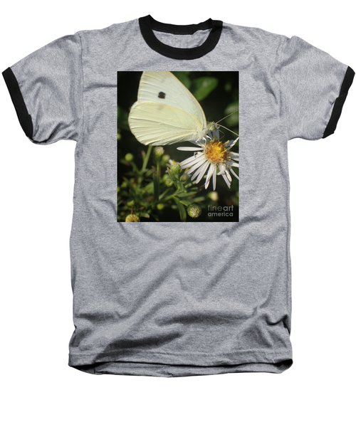 Baseball T-Shirt featuring the photograph Sm Butterfly Rest Stop by Christina Verdgeline