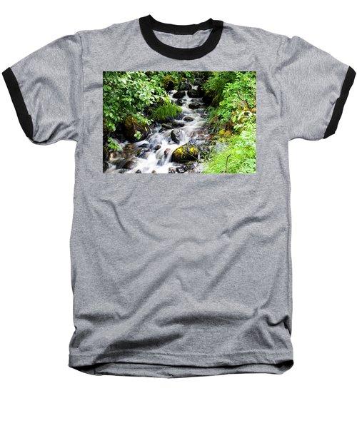 Small Alaskan Waterfall Baseball T-Shirt