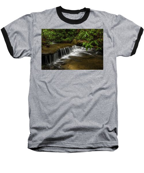 Small Cascade On Pounder Branch. Baseball T-Shirt