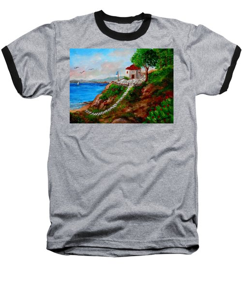 Small Church In Greece Baseball T-Shirt
