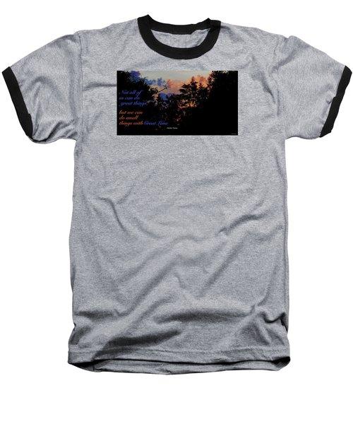 Small Counts Baseball T-Shirt by David Norman