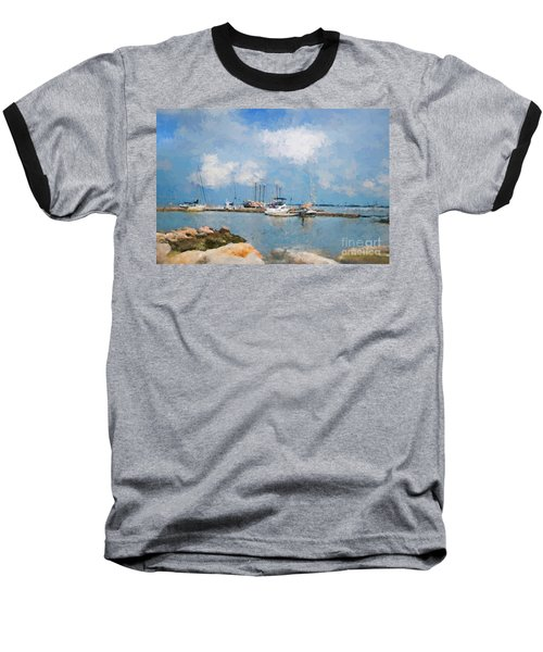 Small Dock With Boats Baseball T-Shirt