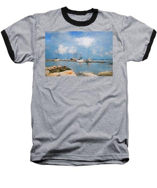 Small Dock With Boats Baseball T-Shirt