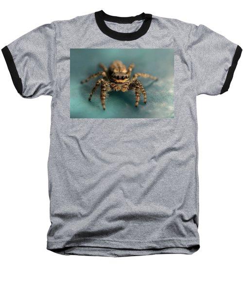 Small Jumping Spider Baseball T-Shirt