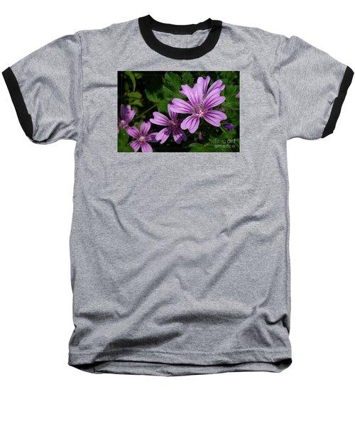 Small Mauve Flowers 6 Baseball T-Shirt