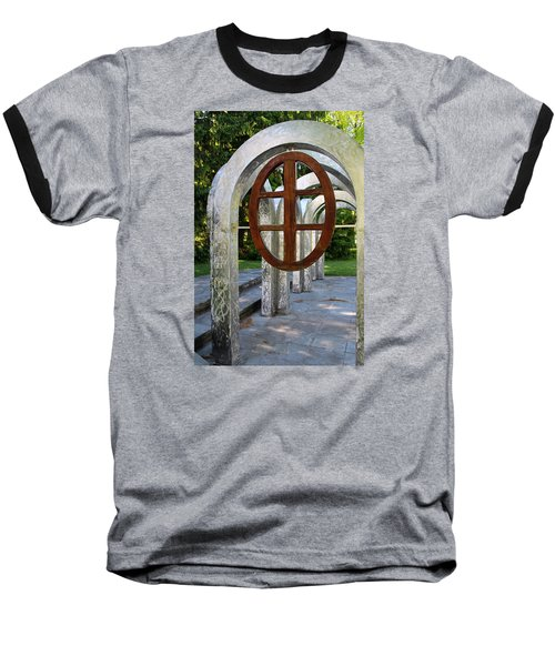 Baseball T-Shirt featuring the photograph Small Park With Arches by Michiale Schneider