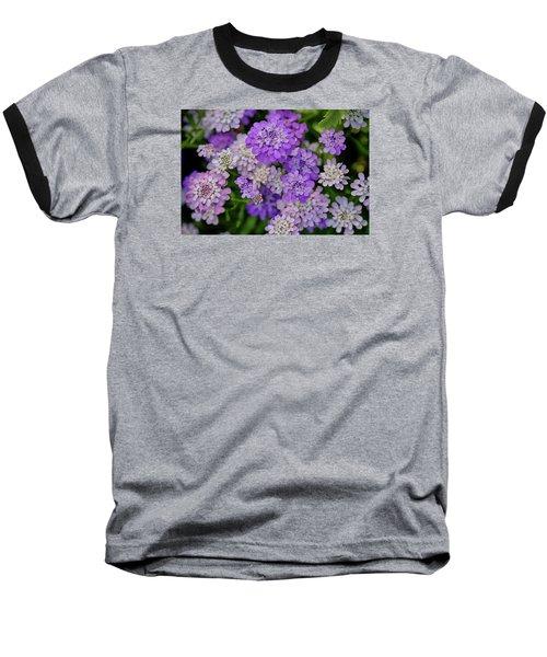 Small Pink Flowers 10 Baseball T-Shirt