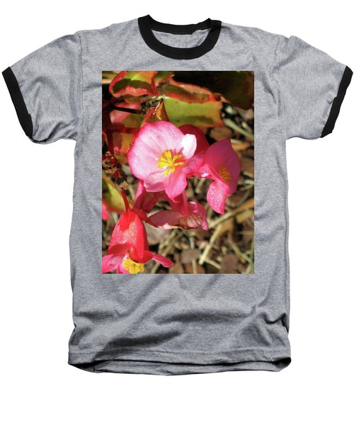 Small Pink Flowers Of Summer Baseball T-Shirt by Michele Wilson