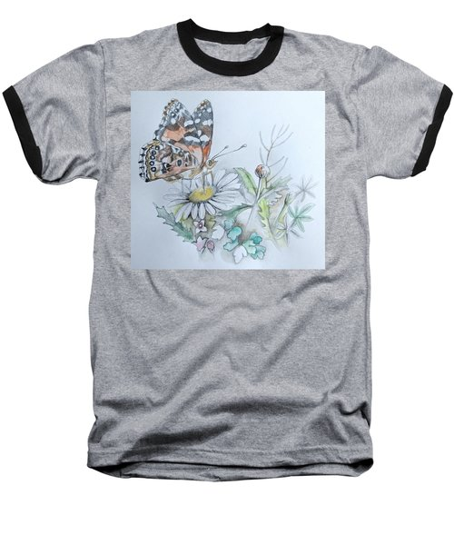 Baseball T-Shirt featuring the drawing Small Pleasures by Rose Legge