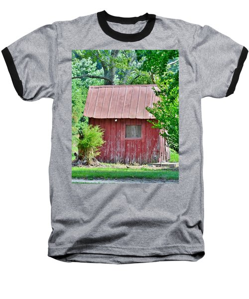 Small Red Barn - Lewes Delaware Baseball T-Shirt
