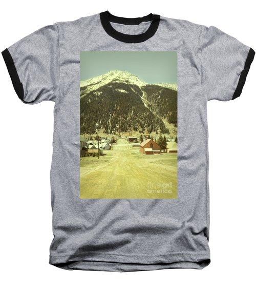 Baseball T-Shirt featuring the photograph Small Rocky Mountain Town by Jill Battaglia