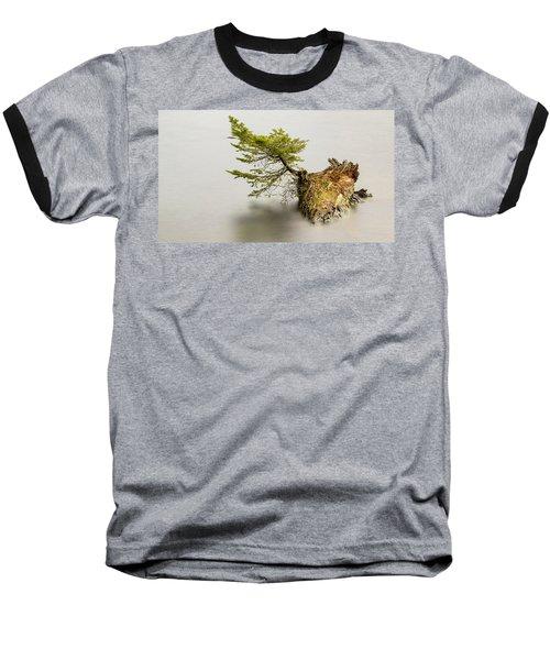 Small Tree On A Stump Baseball T-Shirt