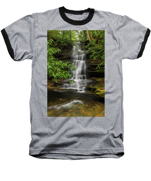 Small Waterfalls In The Forest. Baseball T-Shirt by Ulrich Burkhalter
