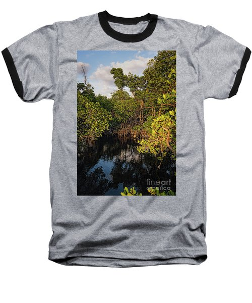 Small Waterway In Vitolo Preserve, Hutchinson Isl  -29151 Baseball T-Shirt by John Bald