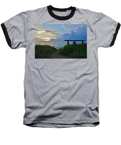 Small World Sunrise   Baseball T-Shirt
