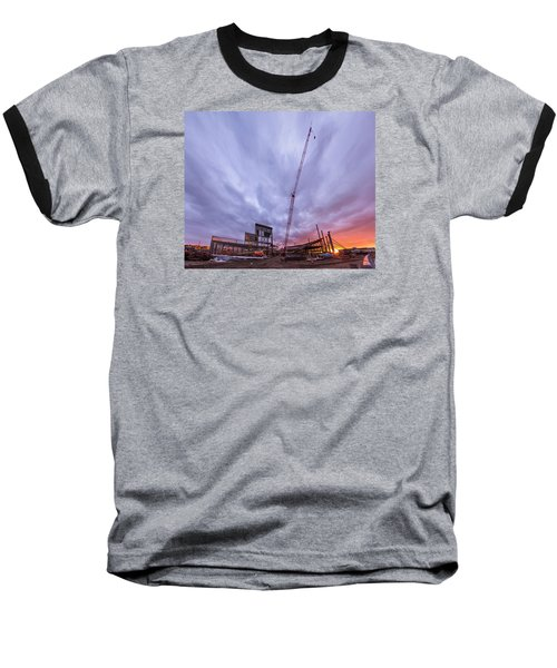 Smart Financial Centre Construction Sunset Sugar Land Texas 10 26 2015 Baseball T-Shirt