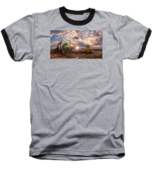 Smart Financial Centre Construction Sunset Sugar Land Texas 11 21 2015 Baseball T-Shirt