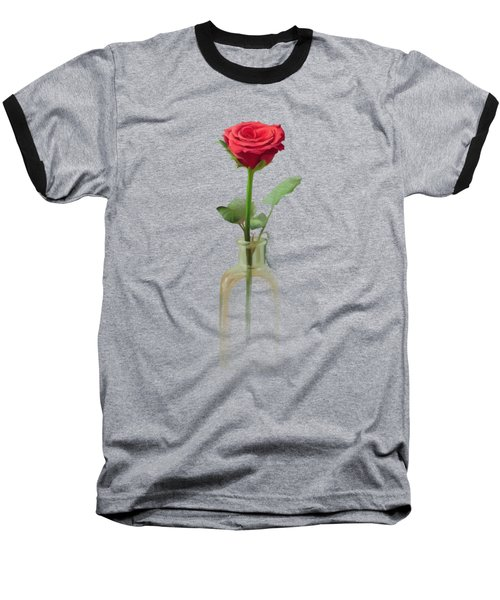 Baseball T-Shirt featuring the painting Smell The Rose by Ivana Westin