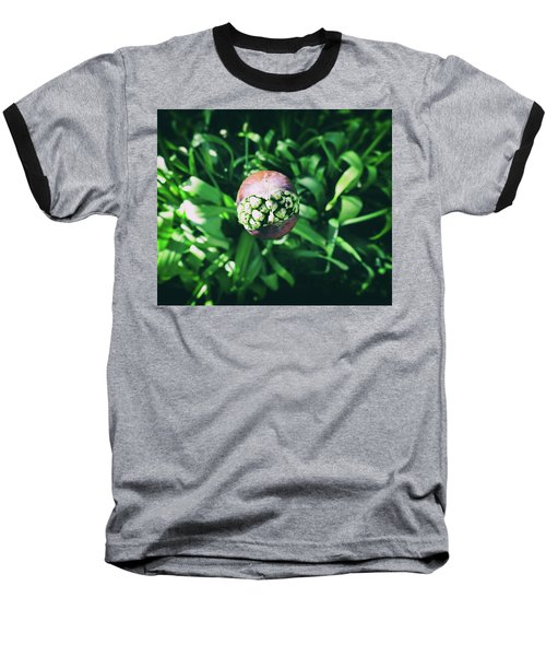 Smile Baseball T-Shirt by Karen Stahlros