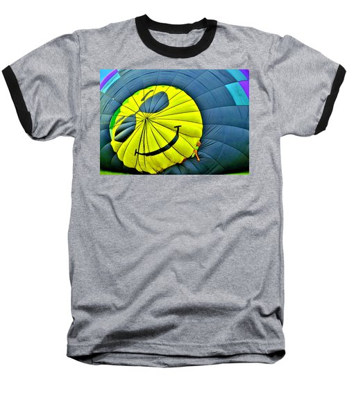 Smiley Face Balloon Baseball T-Shirt