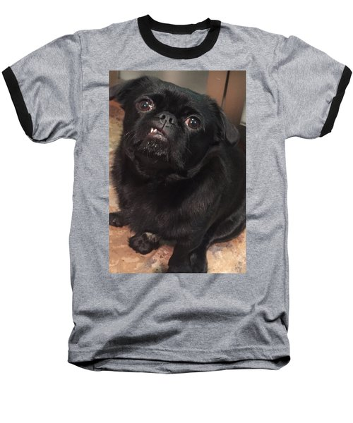 Baseball T-Shirt featuring the photograph Smiling For Treats by Paula Brown