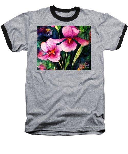 Smiling Iris Faces  Baseball T-Shirt by Hazel Holland
