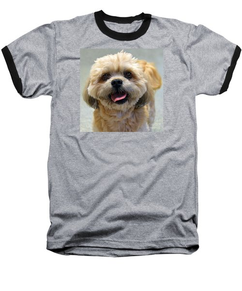 Smiling Shih Tzu Dog Baseball T-Shirt
