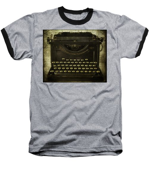 Smith And Corona Typewriter Baseball T-Shirt
