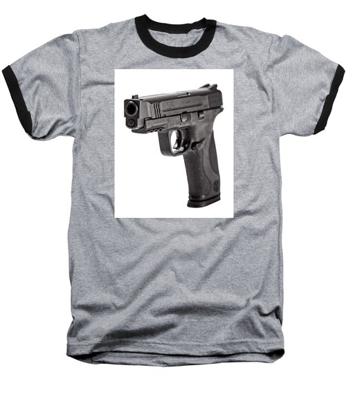 Baseball T-Shirt featuring the photograph Smith And Wesson Handgun by Andy Crawford