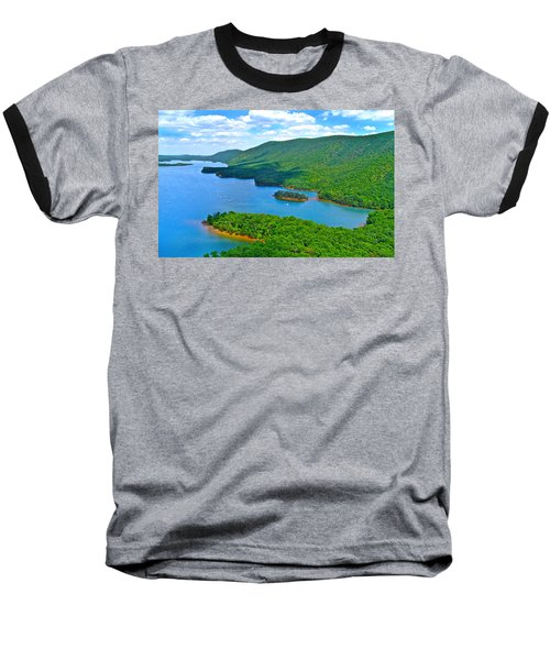 Smith Mountain Lake Poker Run Baseball T-Shirt