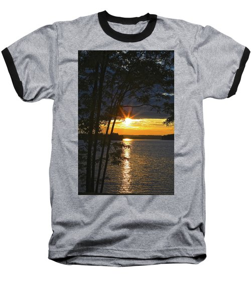 Smith Mountain Lake Summer Sunet Baseball T-Shirt