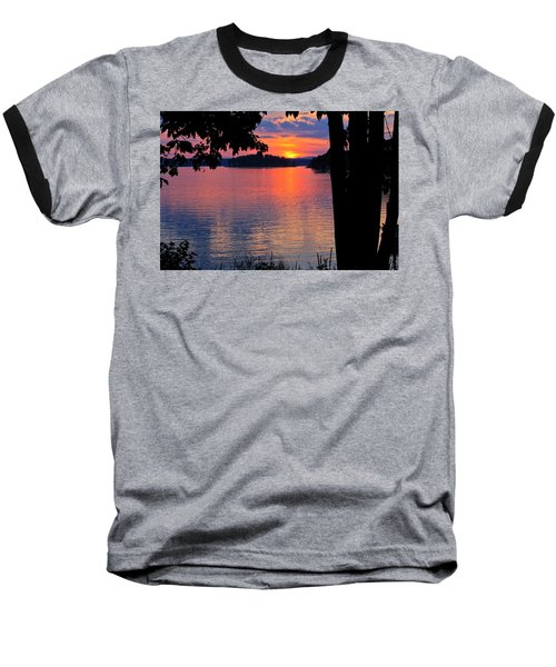 Smith Mountain Lake Sunset Baseball T-Shirt