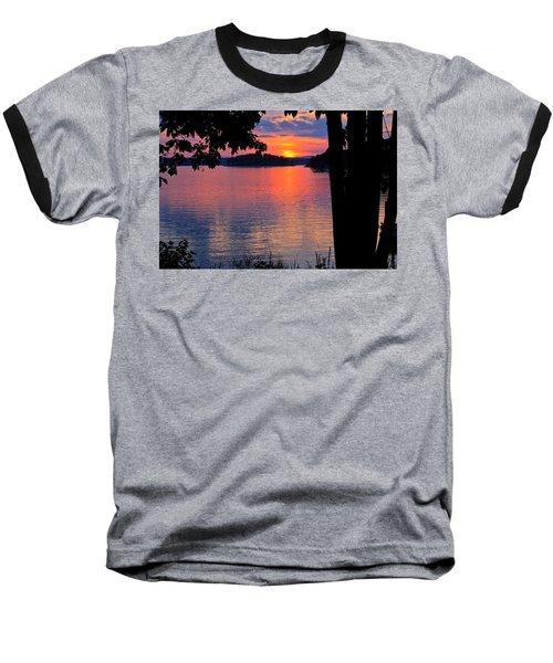 Smith Mountain Lake Sunset Baseball T-Shirt
