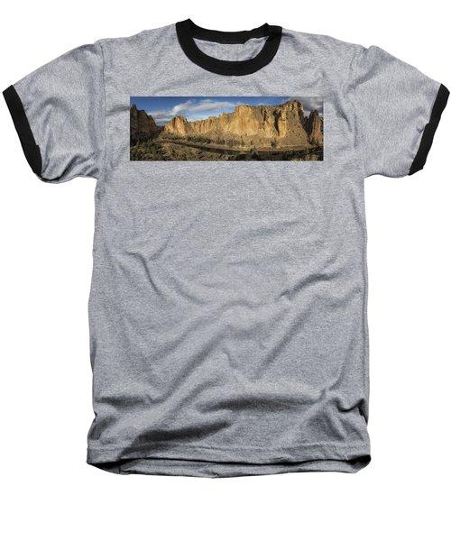 Smith Rock And Crooked River Panorama Baseball T-Shirt