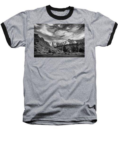 Smith Rock Bw Baseball T-Shirt