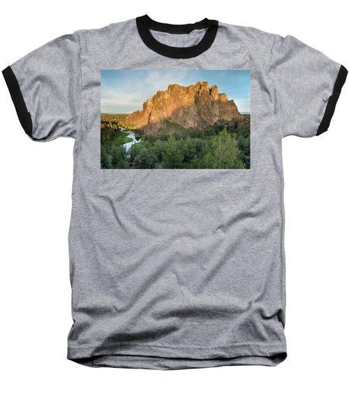 Smith Rock First Light Baseball T-Shirt by Greg Nyquist