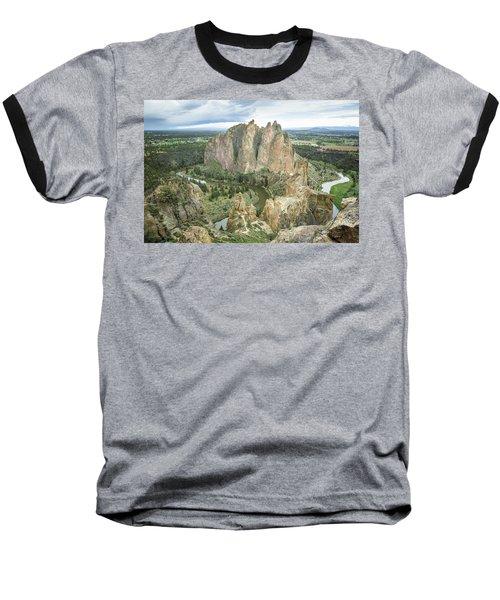 Smith Rock From Misery Ridge Baseball T-Shirt