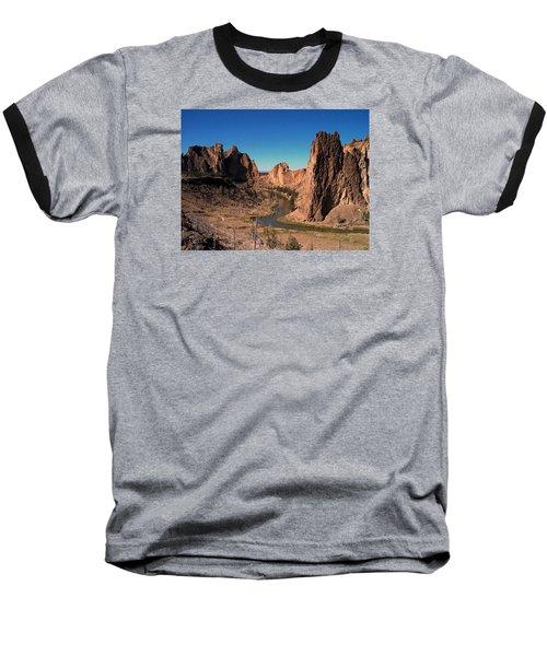 Smith Rock Baseball T-Shirt by Lori Seaman