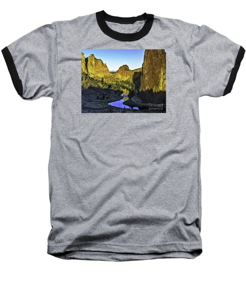 Baseball T-Shirt featuring the photograph Smith Rock, Oregon by Nancy Marie Ricketts