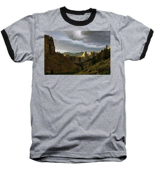 Smith Rock Sky Baseball T-Shirt