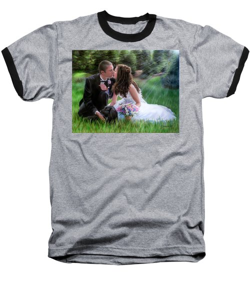 Smith Wedding Portrait Baseball T-Shirt