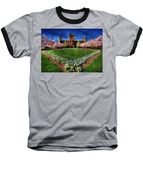 Spring Blooms In The Smithsonian Castle Garden Baseball T-Shirt by Shelley Neff