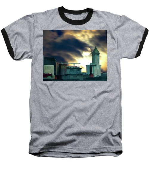 Smithtower Moon Baseball T-Shirt