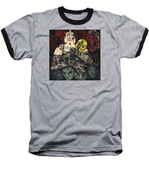 Smoke And Lace Baseball T-Shirt by Yelena Tylkina