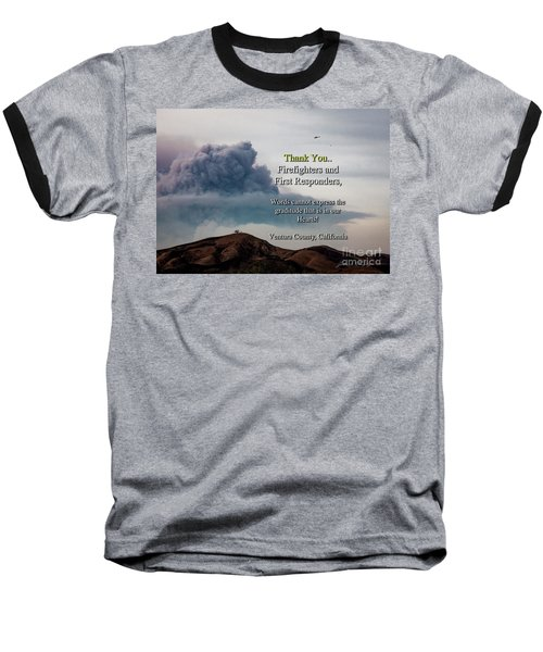 Smoke Cloud Over Two Trees Baseball T-Shirt
