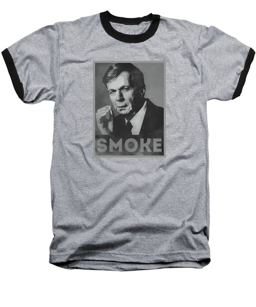 Smoke Funny Obama Hope Parody Smoking Man Baseball T-Shirt