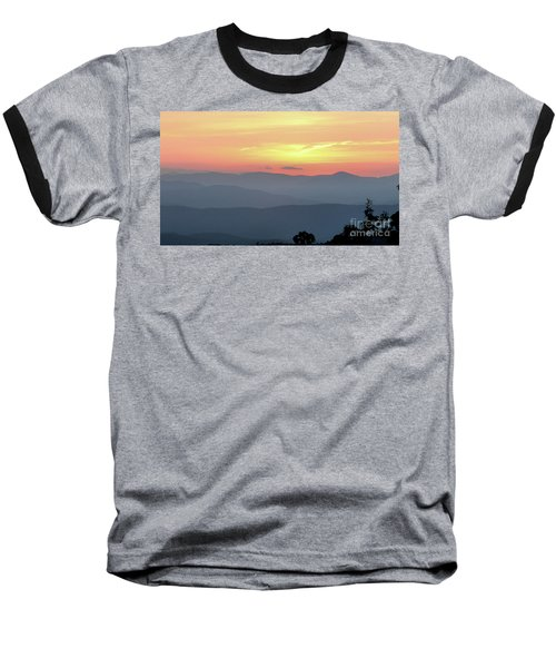 Smokey Mnt Sunset Baseball T-Shirt