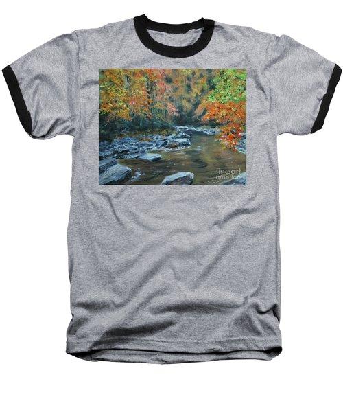 Smokey Mountain Autumn Baseball T-Shirt by Stanton Allaben